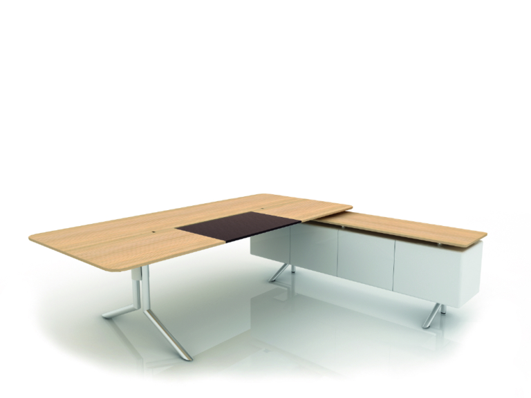 5- desk with sideboard (with top) NC