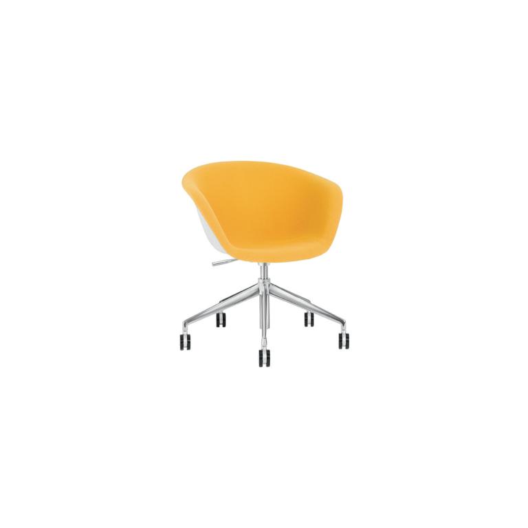Arper_Duna02_armchair_5ways-on-castors_front-face-upholstery_4219
