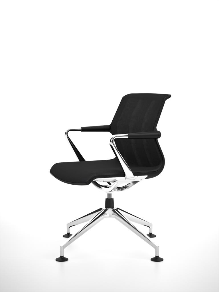 seatshell basic-dark, silk mesh asphalt, conference, dark range of colours