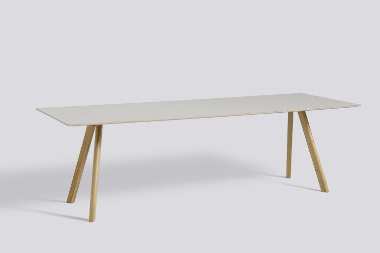 CPH30 L250xW90 Oak Lacquer Lino off white
