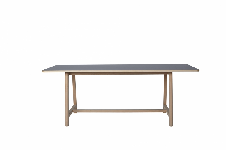 Frame Table L200 Beech Matt Lacquer Lino grey 02